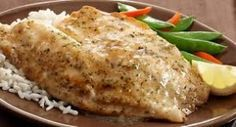 Recipe for Saucy Lemon Fish Fillets. A light lemony sauce turns plain fish fillets into a delicious main dish. Sauce Recipes, Seafood Recipes, Cooking Recipes, Healthy Recipes, Healthy Food, Seafood Meals, Seafood Salad, Cooking Fish, Entree Recipes