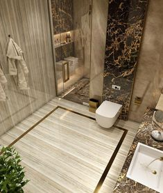 Bathroom inspiration modern - 32 ultra modern master bathroom ideas to inspire your next renovation 3 Luxury Master Bathrooms, Modern Master Bathroom, Bathroom Design Luxury, Dream Bathrooms, Home Interior Design, Small Bathroom, Bathroom Layout, Bathroom Ideas, Luxurious Bathrooms