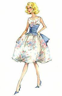 Robert Best Barbie print of Betty Draper Vintage Fashion Sketches, Fashion Illustration Vintage, Illustration Mode, Fashion Design Sketches, Barbie Fashion Sketches, Fashion Illustrations, Fashion Figures, Fashion Dolls, Trendy Fashion