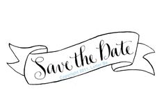 Digital Calligraphy - Wedding Save-the-Date, RSVP. $50.00, via Etsy.