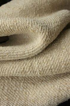 Antique homespun linen ~ wonderful twill weave primitive textile / fabric ~ lovely tones and textures ~ Ideal for a rustic French interior ~*~ www.textiletrunk.com