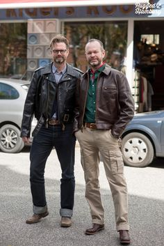 Denim Style, Cool Jackets, Leather Jackets, Street Chic, Vintage Leather, Denim Fashion, Outdoor Gear, Blue Jeans, Guns