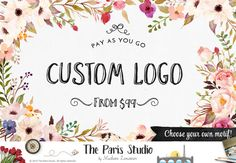 Custom Logo Design - introducing PAY-AS-YOU-GO - a custom logo design package thats affordable and completely based on your style and preferences