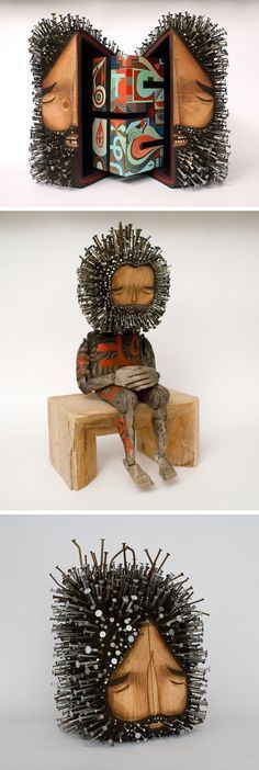 Bellino Alain Google Search Art ALL Forms Pinterest - Taiwanese sculpture uses wood to create sculptures of people effected by pixelated glitches