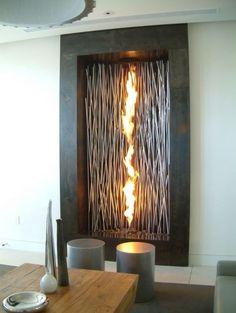 ♂ Luxury fireplace on wall