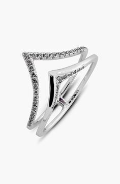 Bony Levy 2-Row V Diamond Ring (Limited Edition) (Nordstrom Exclusive) available at #Nordstrom