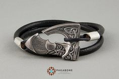 Axe Bracelet Wristband With Big Axe Bracelet With Axe Viking's Axe Viking Jewelry Pagan Jewelry Slavic Axe Perun's Axe