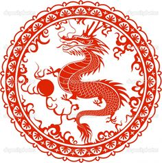 chinese dragon papercut