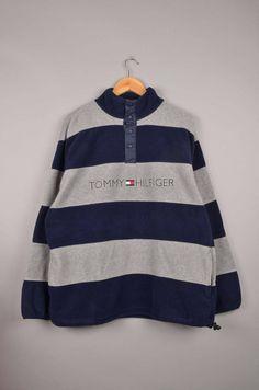 vintage tommy hilfiger teddy fleece, vintage tommy hilfiger fleece, tommy sweaters, vintage crewnecks, vintage sweaters, turtleneck sweater door getfittedvintage op Etsy