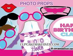 Fun airplane photo props for girls - Enjoy taking wacky pictures with our airplane themed pink photo props and signs! #cupcakemakeover