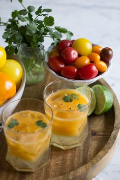 orange heirloom tomato bloody mary
