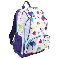 Eastsport Triple Pocket Backpack, Heart Print * Read more reviews of the product by visiting the link on the image. (This is an Amazon Affiliate link and I receive a commission for the sales)