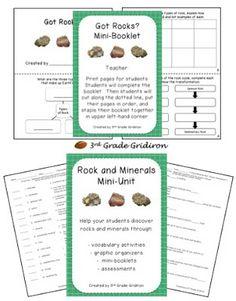 3rd Grade Gridiron teacher blog - Rocks mini unit