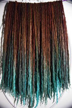 """Taproot"" Wool Dreads, by Cheyenne Le Hale. Etsy Shop: https://www.etsy.com/shop/NVCL3ARBVTT3RFLY  #skyrimdreads #skyrimcosplay #skyrimtaproot #taprootdreads #woolies #wooldreads #wooldreadlocks #cheyennehale #cheyennelehale #nuclearbutterfly"