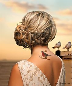 Grab #Robin #Bird #Tattoo On Your Back.