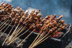 Echoing the flavours of the best street food across Asia, these chicken satay skewers are a must for any gathering. This recipe is an extract from Luke Nguyen& latest cookbook, Street Food Asia. Peanut Sauce Recipe, Spicy Peanut Sauce, Sauce Recipes, Chicken Recipes, Cooking Recipes, Asian Street Food, Best Street Food, Sate Ayam, Chicken Satay Skewers