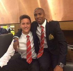 Herrera with Young for the pre-season tour ♥