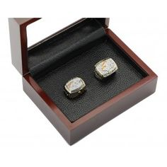 Denver Broncos NFL Championship Rings Set 2 in One Wooden Display Box Collections