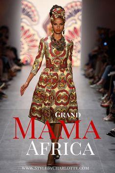Mikro-Trend #Afrika in der Retro-Variante von der Designerin Lena Hoschek   #WaxPrint #SommerTrend #LemaHoschek