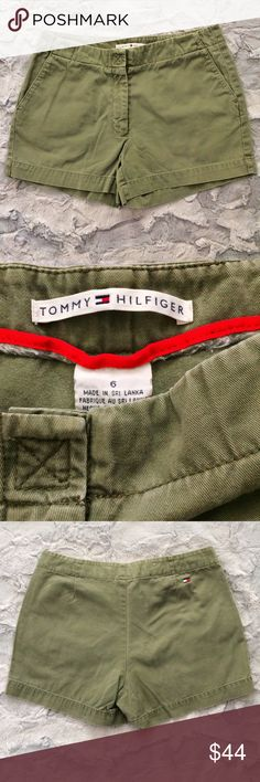 Tommy Hilfiger olive green size 6 shorts Make an offer! No trades. Bundle and save - I'm a fast shipper! Tommy Hilfiger Shorts