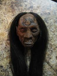 Shrunken head ...looks like a Klingon to me!