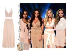 """""""Graham Norton Show with Little Mix."""" by phyllon ❤ liked on Polyvore featuring Needle & Thread, Alexander McQueen and Steve Madden"""