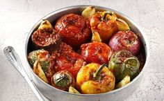 Vegetarian stuffed vegetable recipe by greek chef Akis. A clever way to incorporate more veggies into your diet.