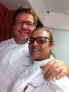 Carla Falconi com Claude Troisgros em Instituto Chefs Especiais