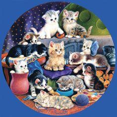 Cute Kitties! Playmates cat jigsaw puzzle.