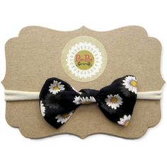 Bow Clip, Toddler Headband, Nylon Baby Headband, Infant Hairband, Baby... (114.195 VND) ❤ liked on Polyvore featuring accessories