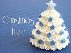 ペーパークイリングで作る3D(立体)クリスマスツリー