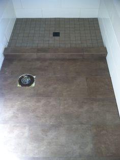 Floor & shower floor tile. Shower Floor Tile, Clean House, Master Bathroom, Showers, Home Appliances, Cleaning, Flooring, House Appliances, Master Bath