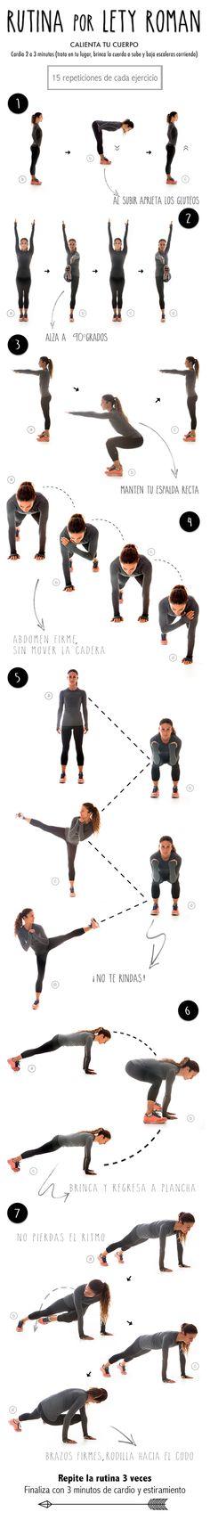 Rutina completa para acompañar a tus ejercicios diarios