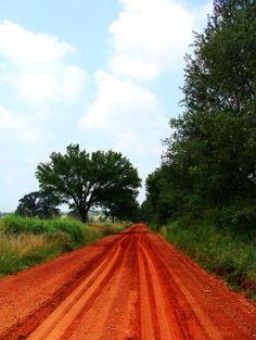Red dirt roads (Port Silt Loam soil of Oklahoma)