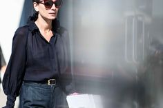 A romantic, sheer blouse seen at Milan Fashion Week.