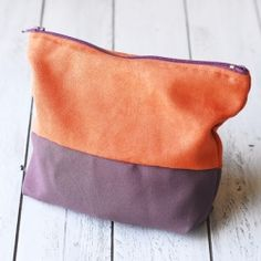 Make an upcycled zippered pouch using leftover fabric (includes link to a tutorial).