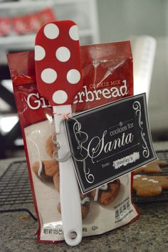 Cookies for Santa Easy Neighbor Gift Idea!! -- The Idea Room for Tatertots and Jello!