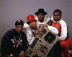 LL Cool J and the crew with the Boombox centerpiece Hip Hop Radio, 80s Hip Hop, Dance Movies, Def Jam Recordings, Ll Cool J, Vito, Punk, Hip Hop Artists, Music Artists