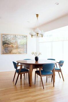 sala de estar Juego de 4 sillas de comedor retro de mediados de siglo de cocina con patas de metal para comedor dormitorio N A MUEBLES Home