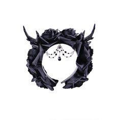 ANTLERS, ROSES and BEADS headband, Gothic Wreath, romatic headdwear