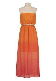 Belted Ombre Maxi Dress available at #Maurices
