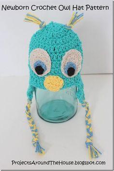 Crochet Owl Hat - Free Pattern.