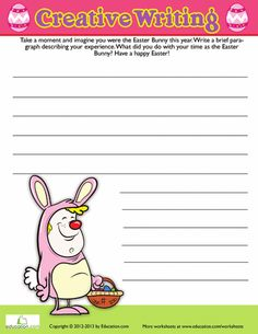 2nd grade Worksheets: Easter Writing Prompt