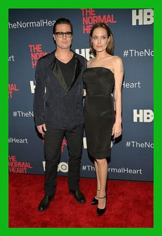 Angelina Jolie Gives Brad Pitt the Look of Love at 'Normal Heart' NYC Premiere!: Photo Angelina Jolie and Brad Pitt are the perfect couple while hitting the red carpet for the new HBO film The Normal Heart held at Ziegfeld Theater on Monday (May Angelina Jolie Wedding, Angelina Jolie Style, Brad Pitt And Angelina Jolie, Jolie Pitt, Atelier Versace, Cosmopolitan, Celebrity Red Carpet, Celebrity Style, Celebrity Quotes