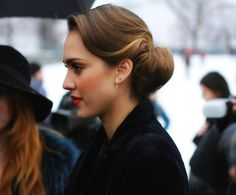 Chloe Rose Boutique - - labellefabuleuse: Jessica Alba arriving at Christian Dior Haute Couture, Spring 2013 1950s Hairstyles, Chic Hairstyles, Prom Hairstyles, Retro Wedding Hairstyles, Easy Vintage Hairstyles, Wedding Hair And Makeup, Hair Makeup, Wedding Updo, 1950s Wedding Hair