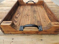 Wood Pallets Rustic Wood Coffee Table Serving Tray - Large ~ Decorative Trays ~ Olivia Decor - decor for your home and office. Pallet Barn, Barn Wood, Rustic Wood, Wood Wood, Wooden Pallets, Wooden Diy, Wooden Serving Trays, Woodworking Projects Diy, Salvaged Wood Projects