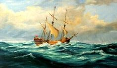 1609 - The Sea Venture got wrecked during the first attempt to colonize Bermuda. Severe Storms, Bermuda Triangle, Family Roots, Shipwreck, Learn To Paint, Animal Paintings, Sailing Ships, Sea, Elon University