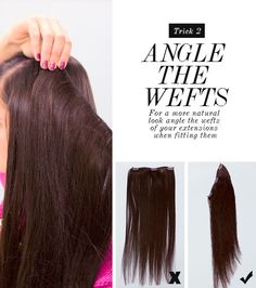 How To Hide Layers Using Layer Blending Weft Hair Extensions | Dirty Looks Hair Extensions, Hair Tutorials Lotsa Gossip