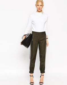 ASOS Premium Tailored Jogger with Zip Detail - not the shoes!