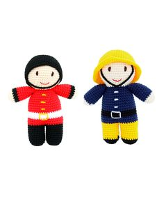 This Crochet Fireman & Guard by Imajo is perfect!